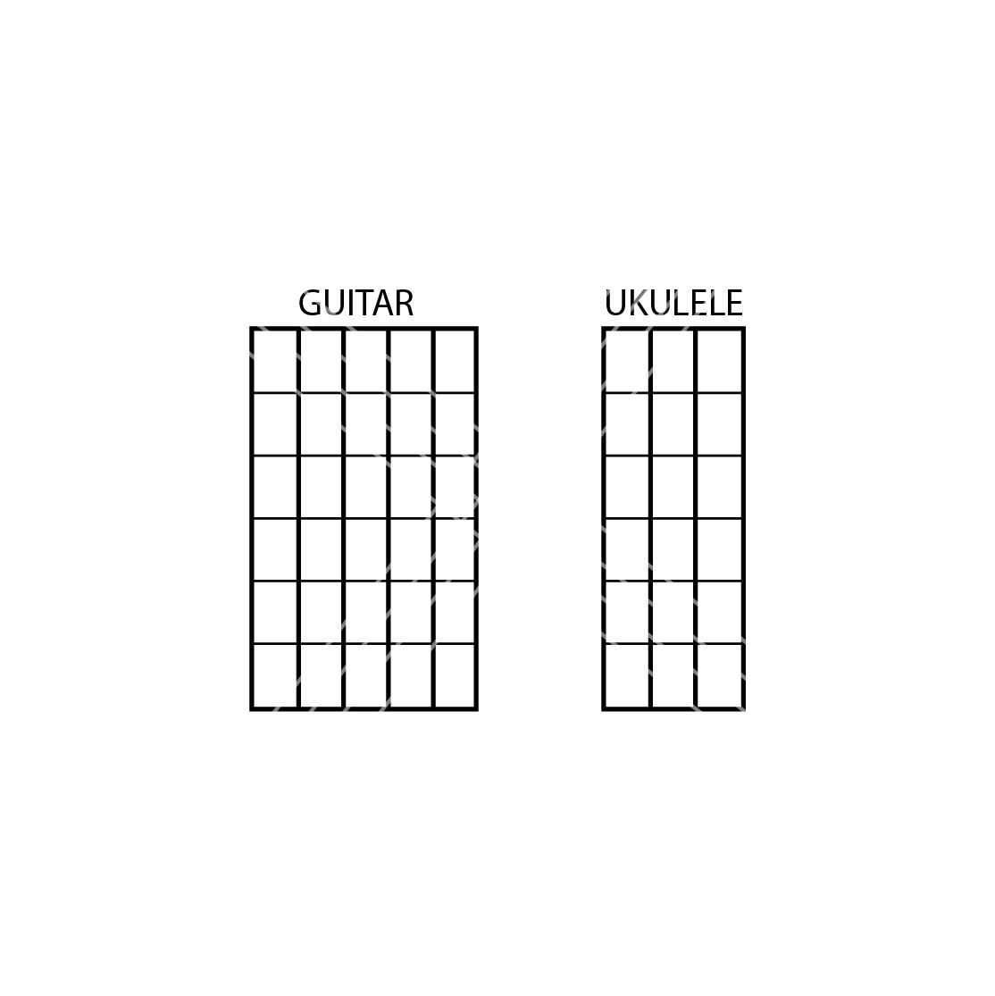 Image of Guitar or Ukulele Chord Stamps