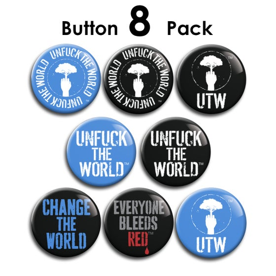Image of OFFICIAL UTW BUTTON 8-PACK