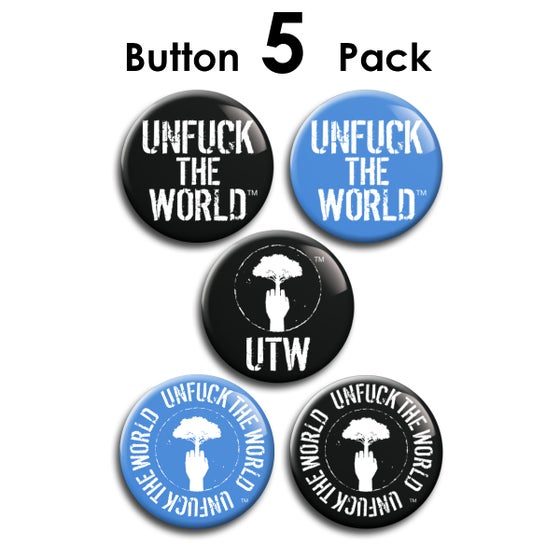 Image of OFFICIAL UTW BUTTON 5-PACK