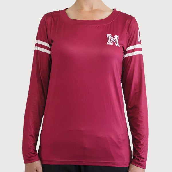 Women's Varsity Active Long Sleeve Tee - mekong