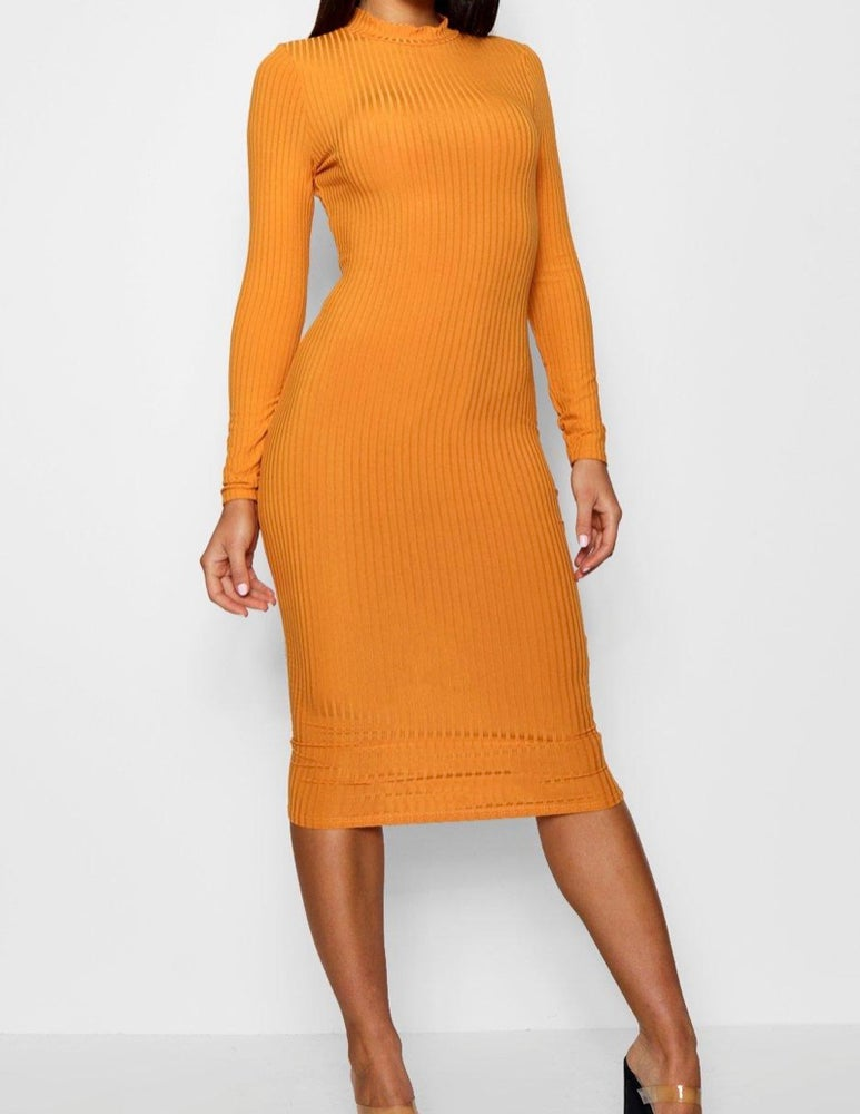 Image of Golden midi dress