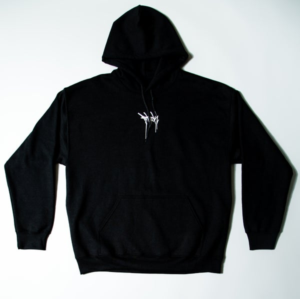 Image of F-Rock Drip Pull-Over Hoodie - Black/White