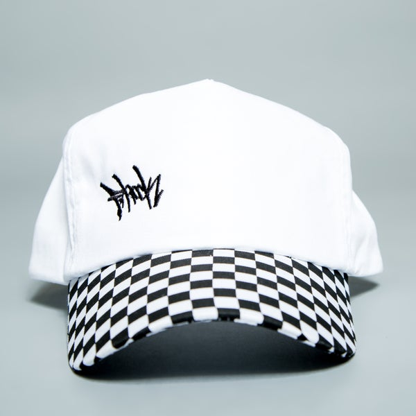 Image of Checkered F-Rock Tag Snapback