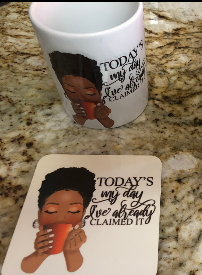 Image of Today is my Day Mug and Coaster Set