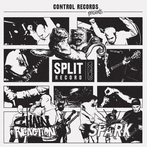 Image of CHAIN REACTION / SPARK split EP - Red Wax