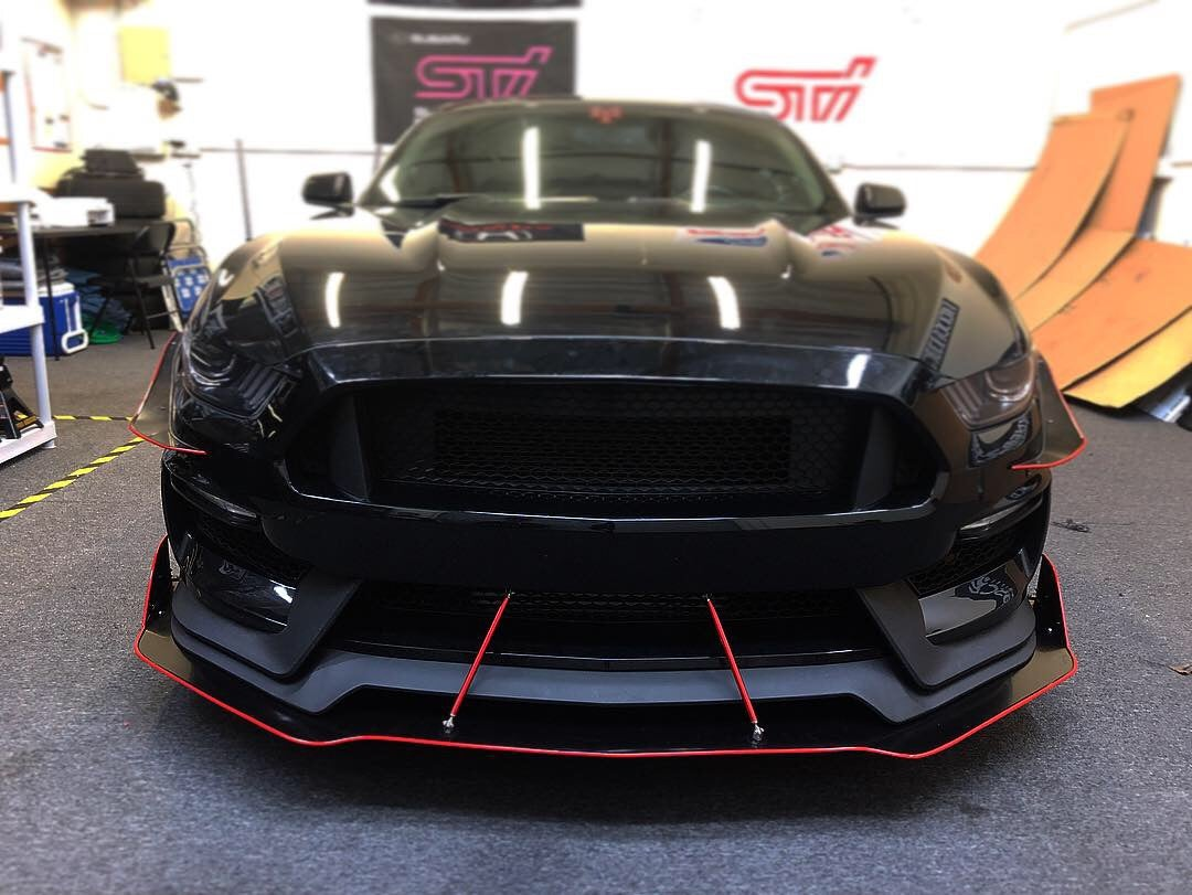 Downforcesolutions 2015 2018 Ford Mustang Gt350 Splitter
