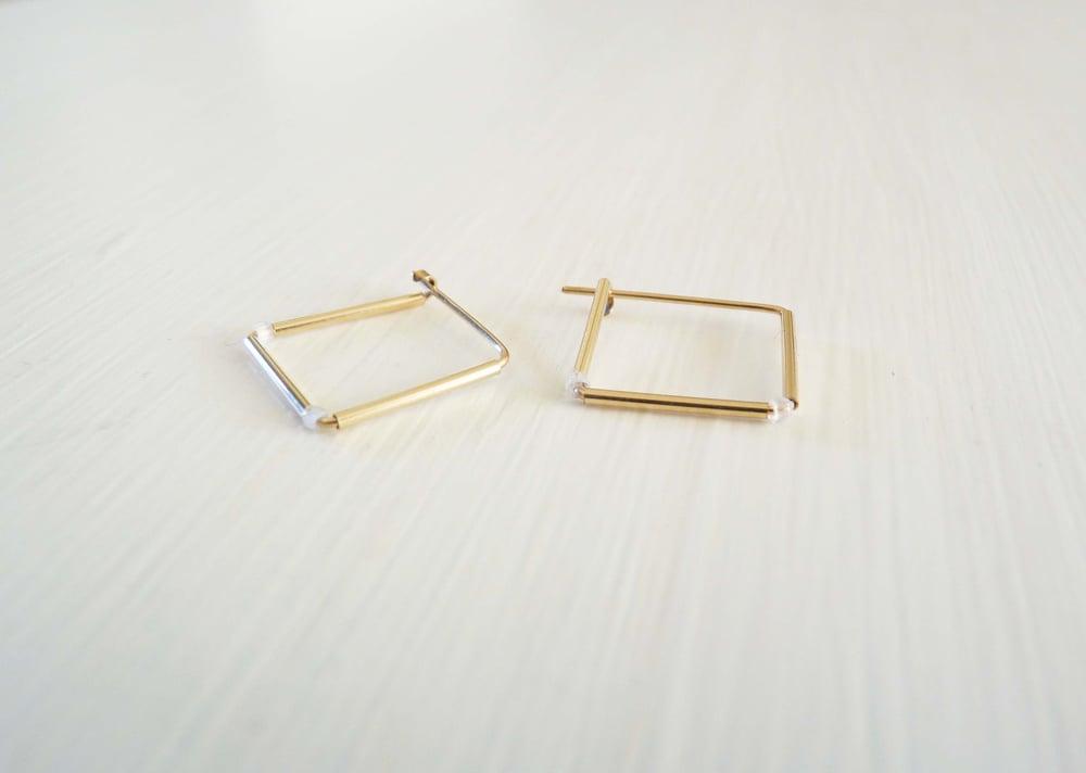 Image of Square dot earrings