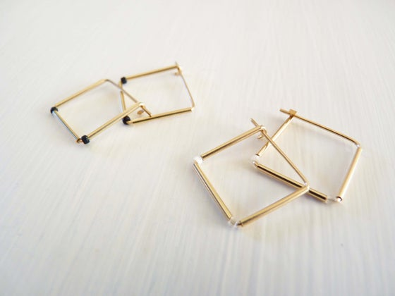 Image of Square dot earrings