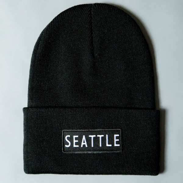 Image of F-Rock Seattle Beanies - Black/White