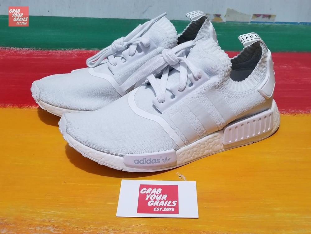 40ff96c552f1 Adidas NMD R1 PK Monochrome White   Grab your Grails