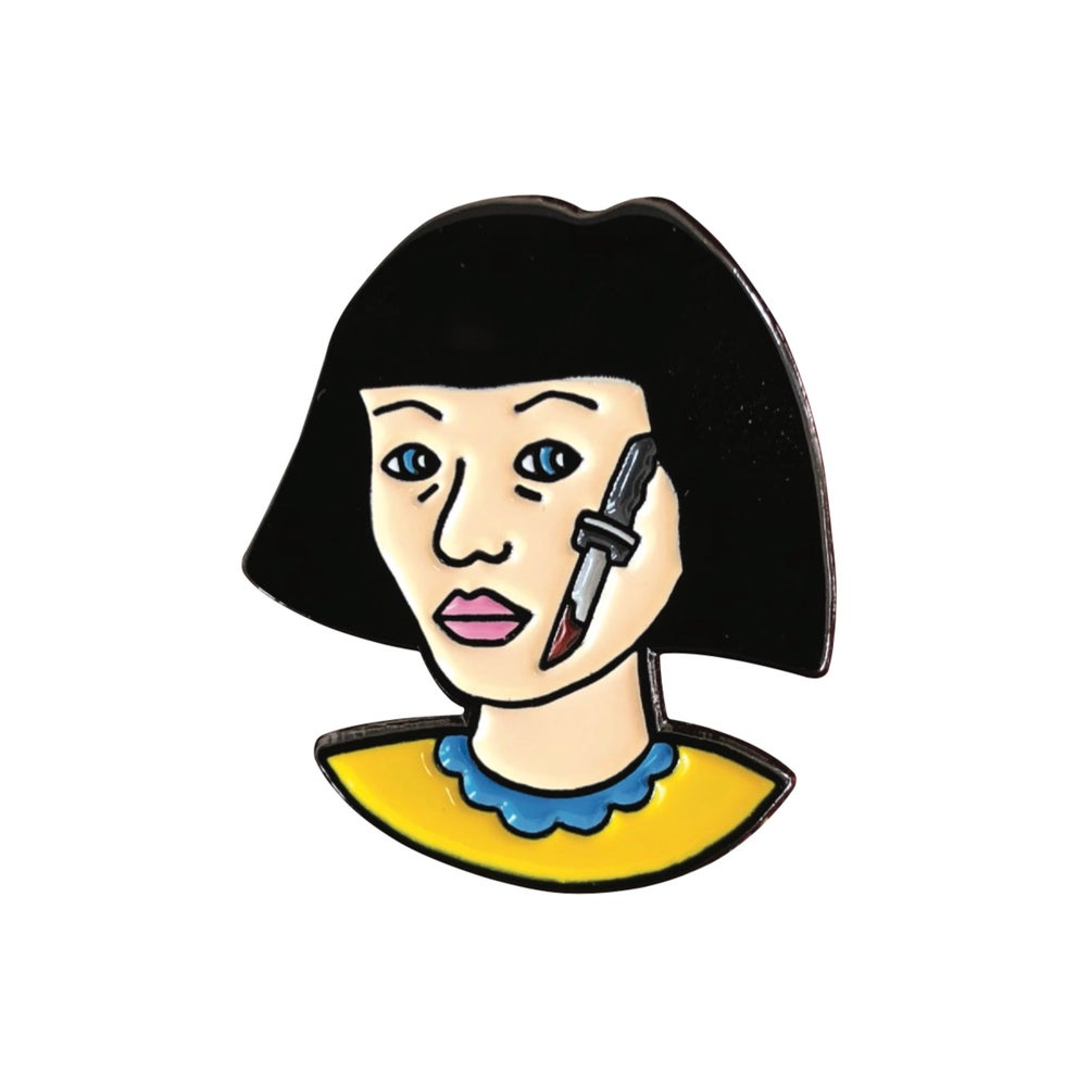 "Image of ""Knife Lady"" Pin"