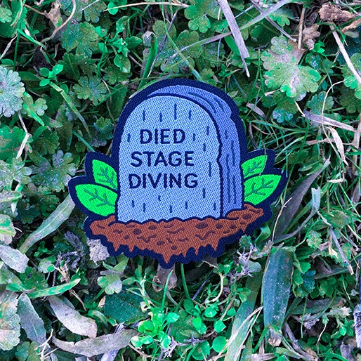 Image of 'DIED STAGE DIVING' PATCH