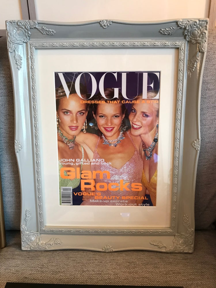 Image of Original Vogue Cover December 1994 'Glam Rocks' Kate Moss, Amber Valletta & Nadia Auermann