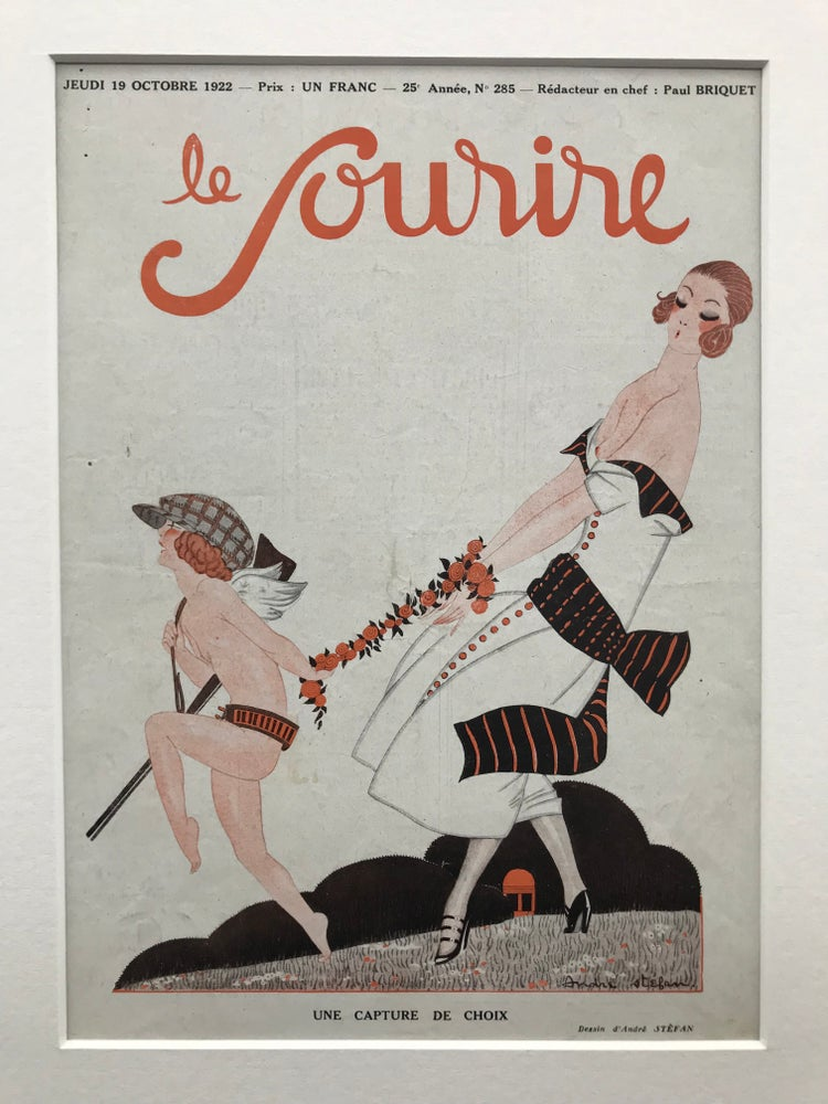 Image of Le Sourire Cover illustrated by Andre Stefan 1922