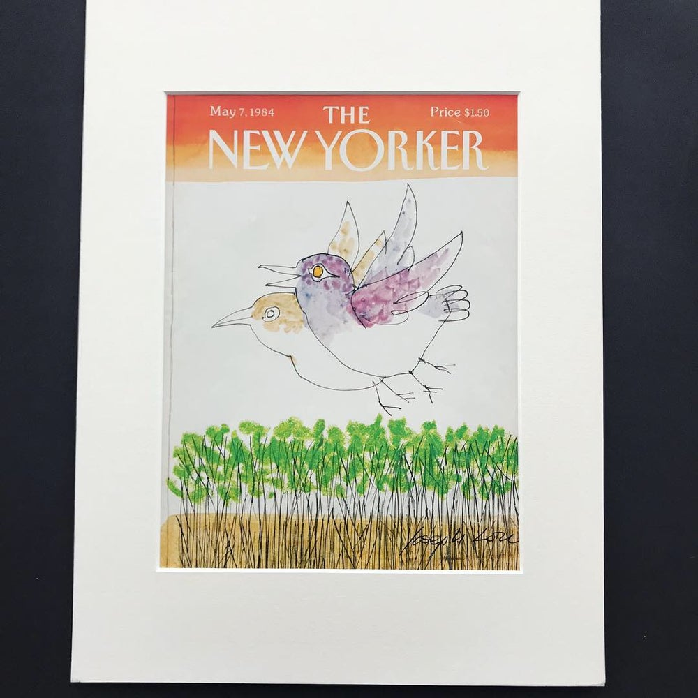 Image of Original New Yorker Cover May 1984 illustrated by Joseph Low