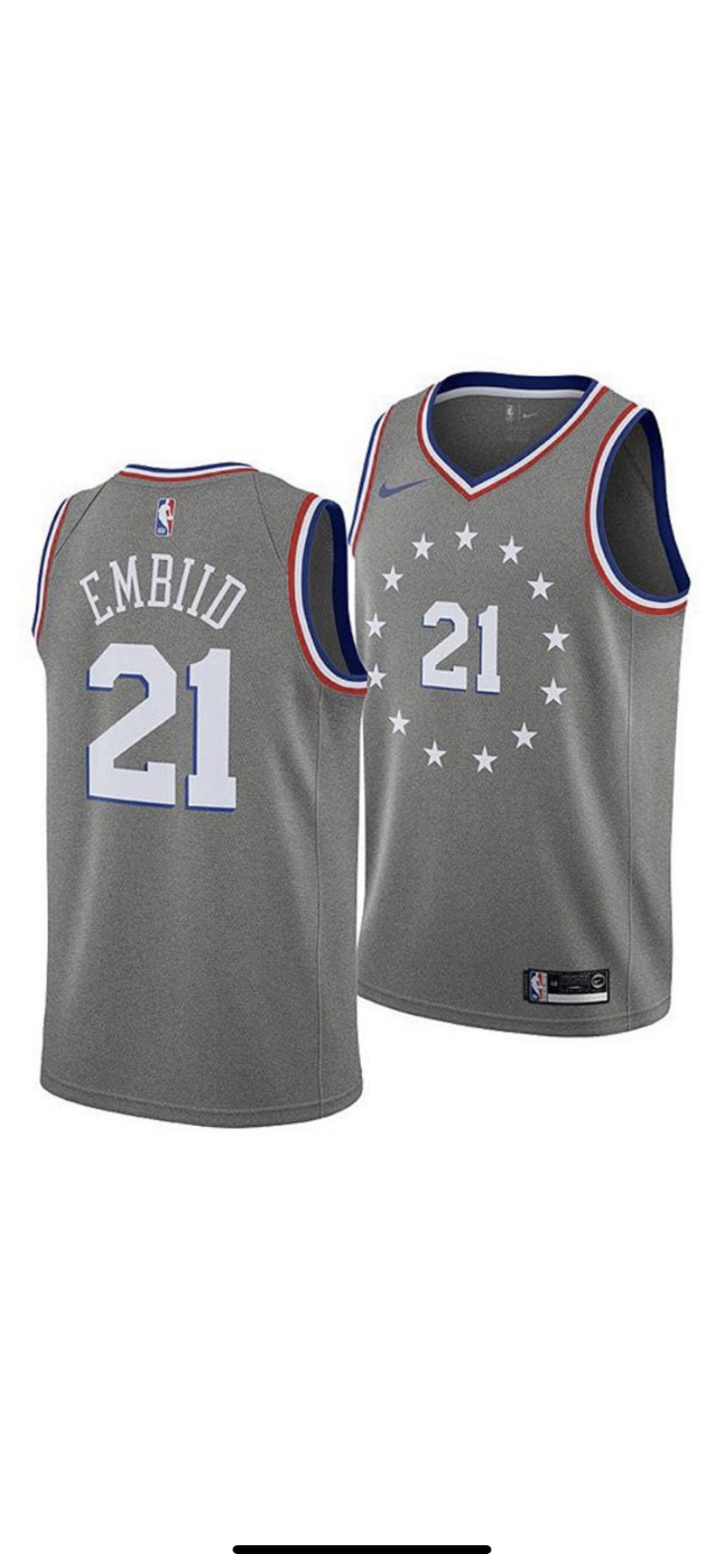Image of Joel embiid city jerseys