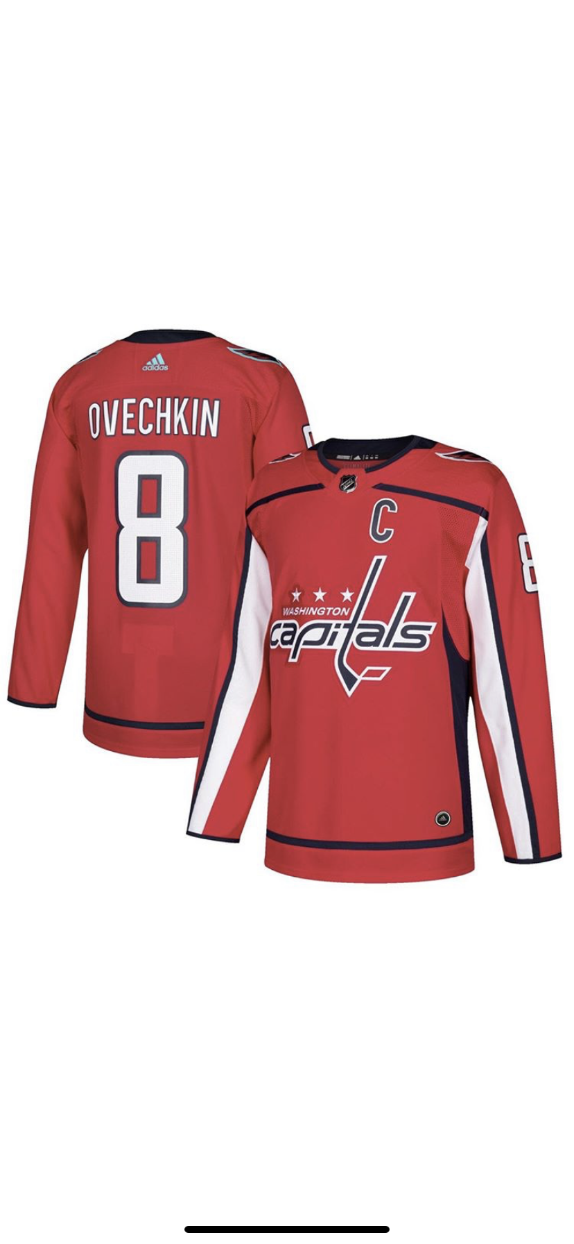 Image of Alex ovechkin capital Jersey
