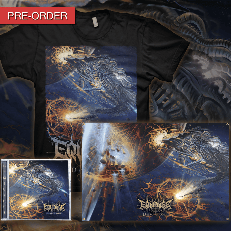 Image of [PRE-ORDER] EQUIPOISE - Demiurgus - CD/Flag Bundle