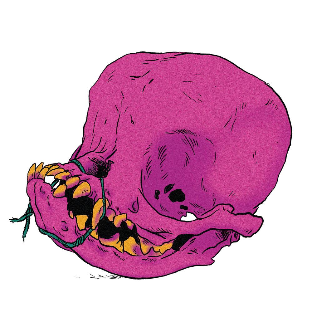 Image of Pug Skull Print