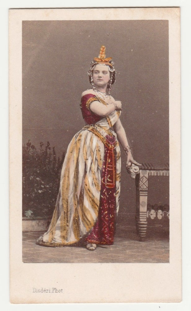 Image of Disdéri: Marie Sax in L'Africaine, ca. 1865