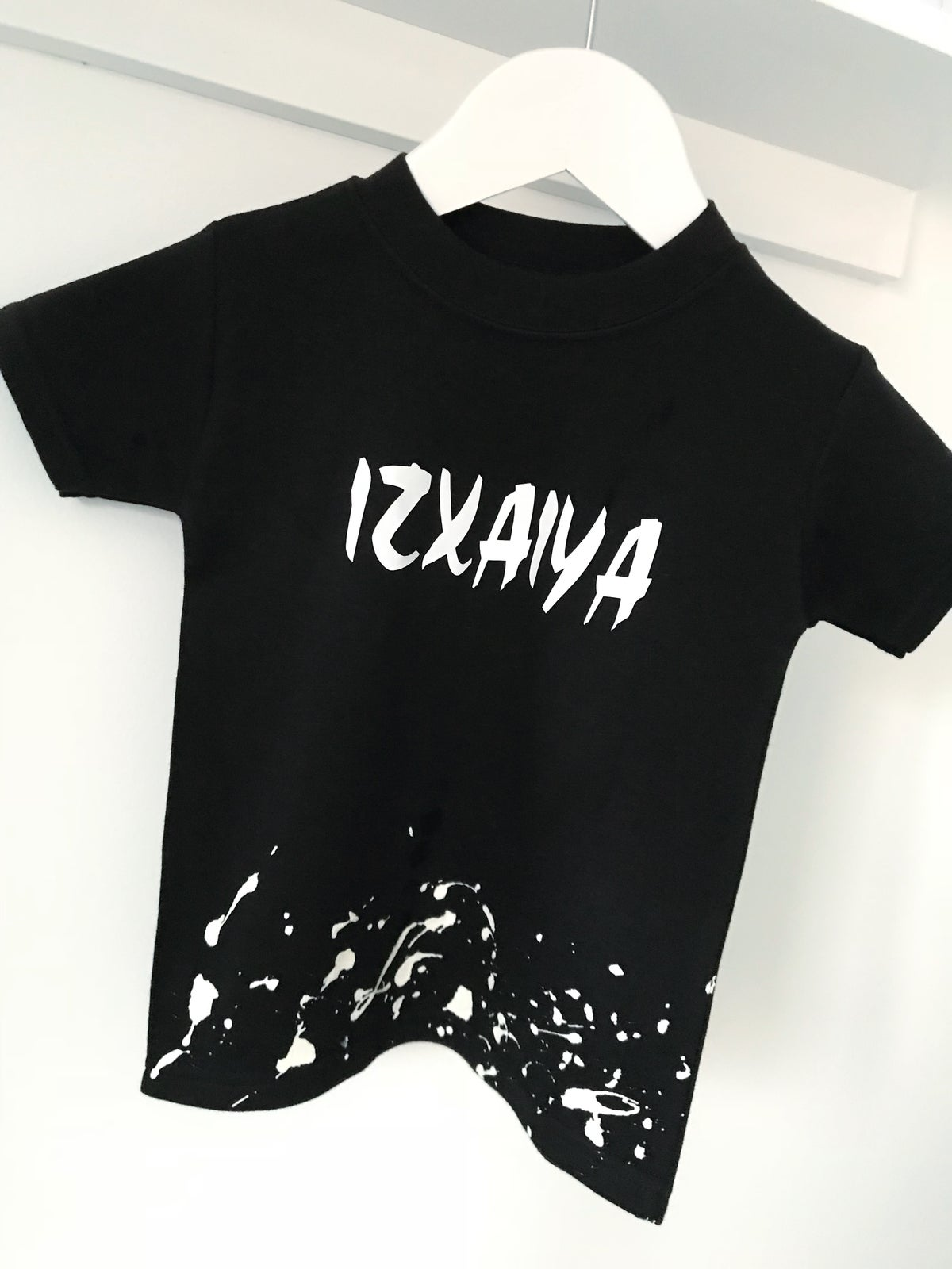 Image of Black Personalised Splat Tee