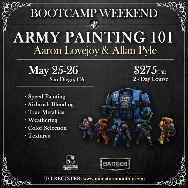 Image of Army Painting 101: Aaron Lovejoy & Allan Pyle - San Diego, CA - May 25-26, 2019
