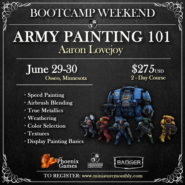 Image of Army Painting 101: Aaron Lovejoy - Osseo, MN - June 29-30, 2019