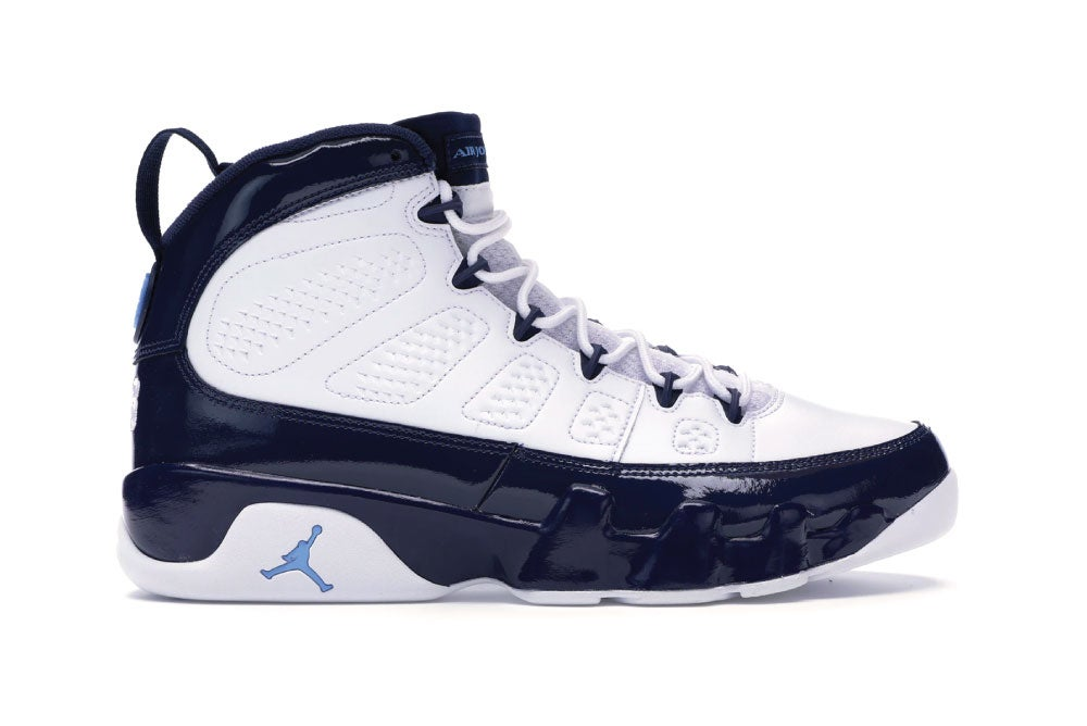 "Image of [Pre Order] Jordan 9 Retro Blue Pearl ""UNC"" 302370-145"