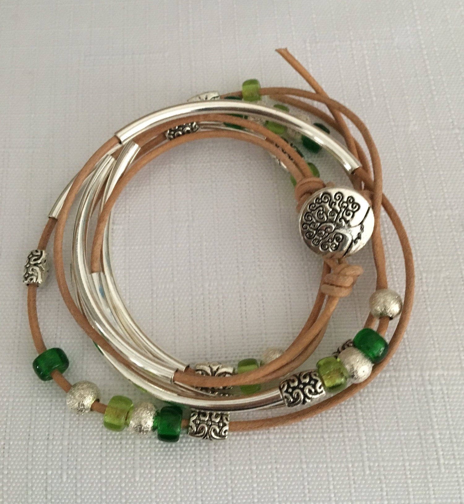 Image of Leather Wrap Bracelet (or Necklace)