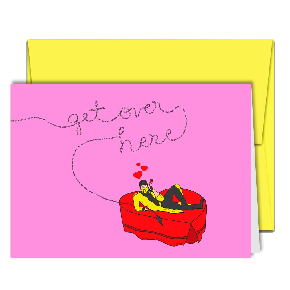 Image of Get Over Here Greeting Card