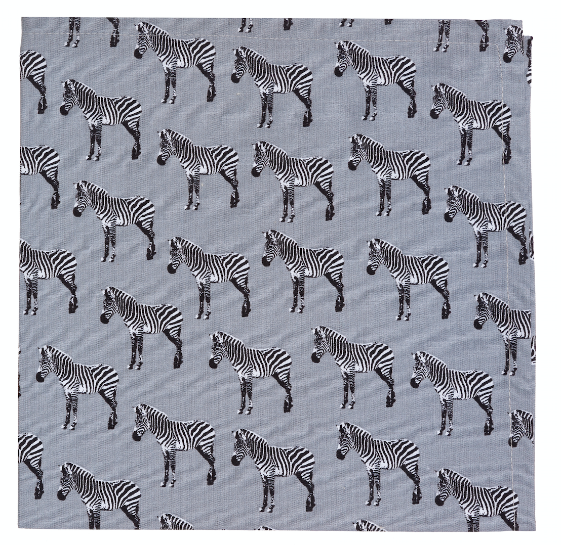 Image of 2 Zebra napkins set / Set di 2 tovaglioli Zebra