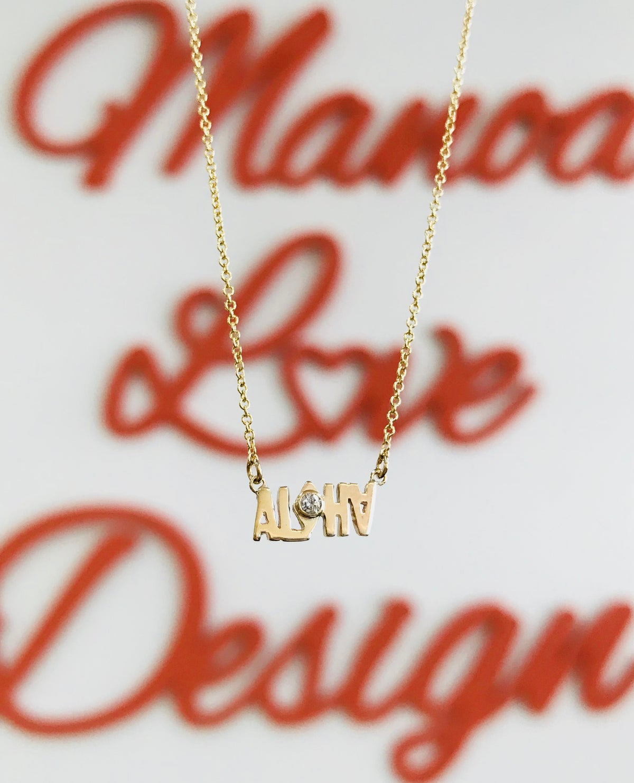 Image of Aloha diamond necklace