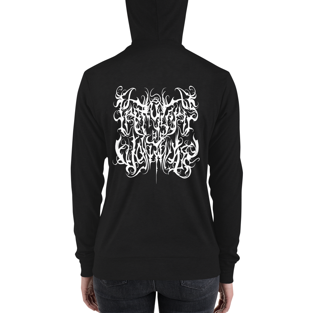 Image of Unisex Black Metal PGDUT modern fit hoodie