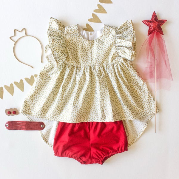 Image of Candy Heart Bustle Top