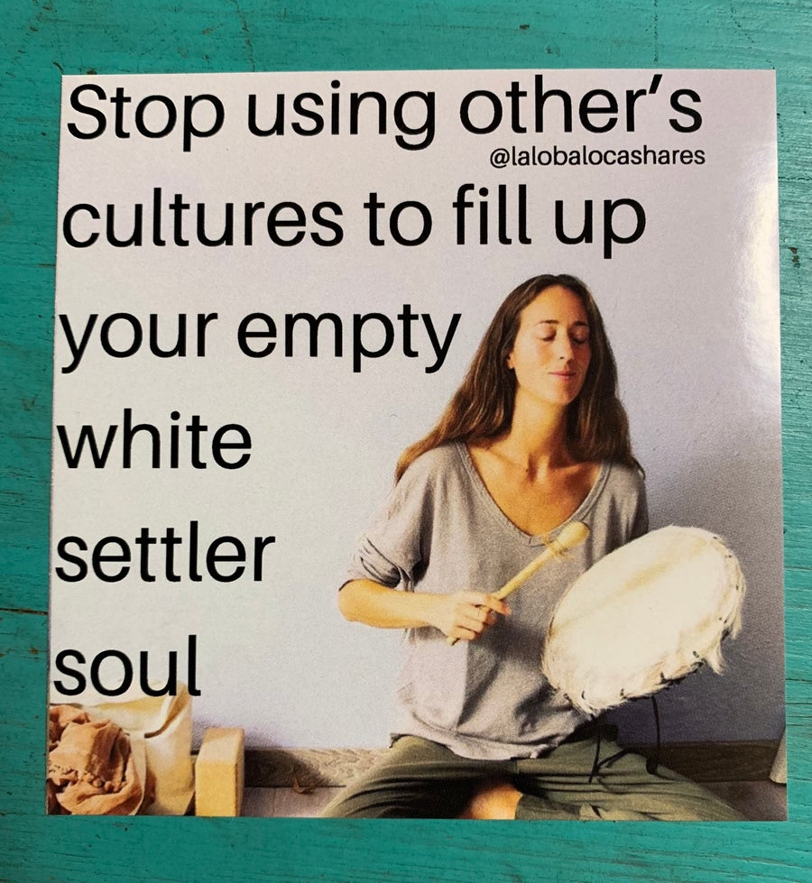 Image of White Settler Soul 3*3 inches sticker