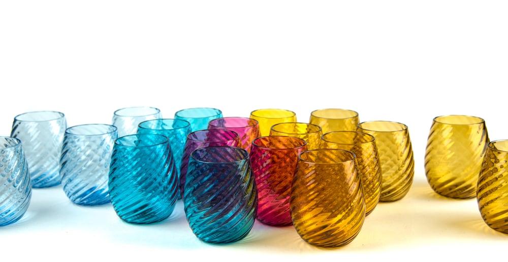 Image of Set of 20 Summer drinking glasses
