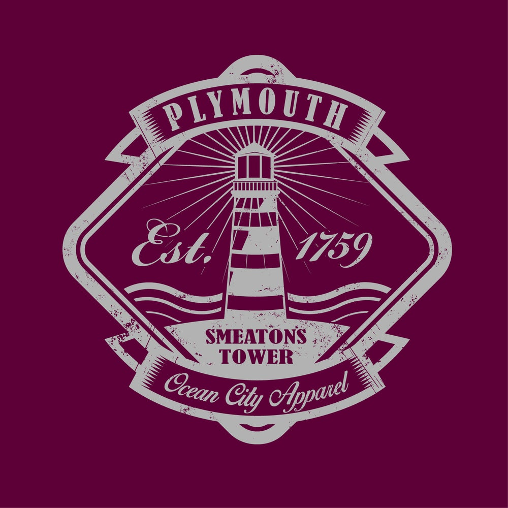 Image of Smeatons Tower Tshirt - Maroon