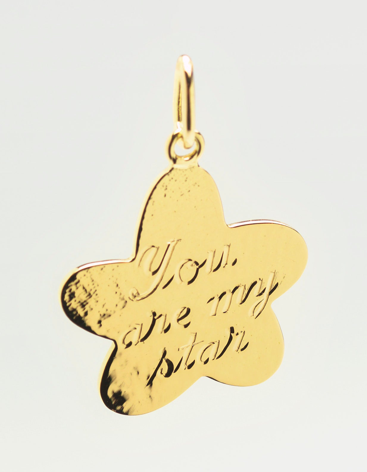 Image of pendant 'You are my star' in Fair trade gold