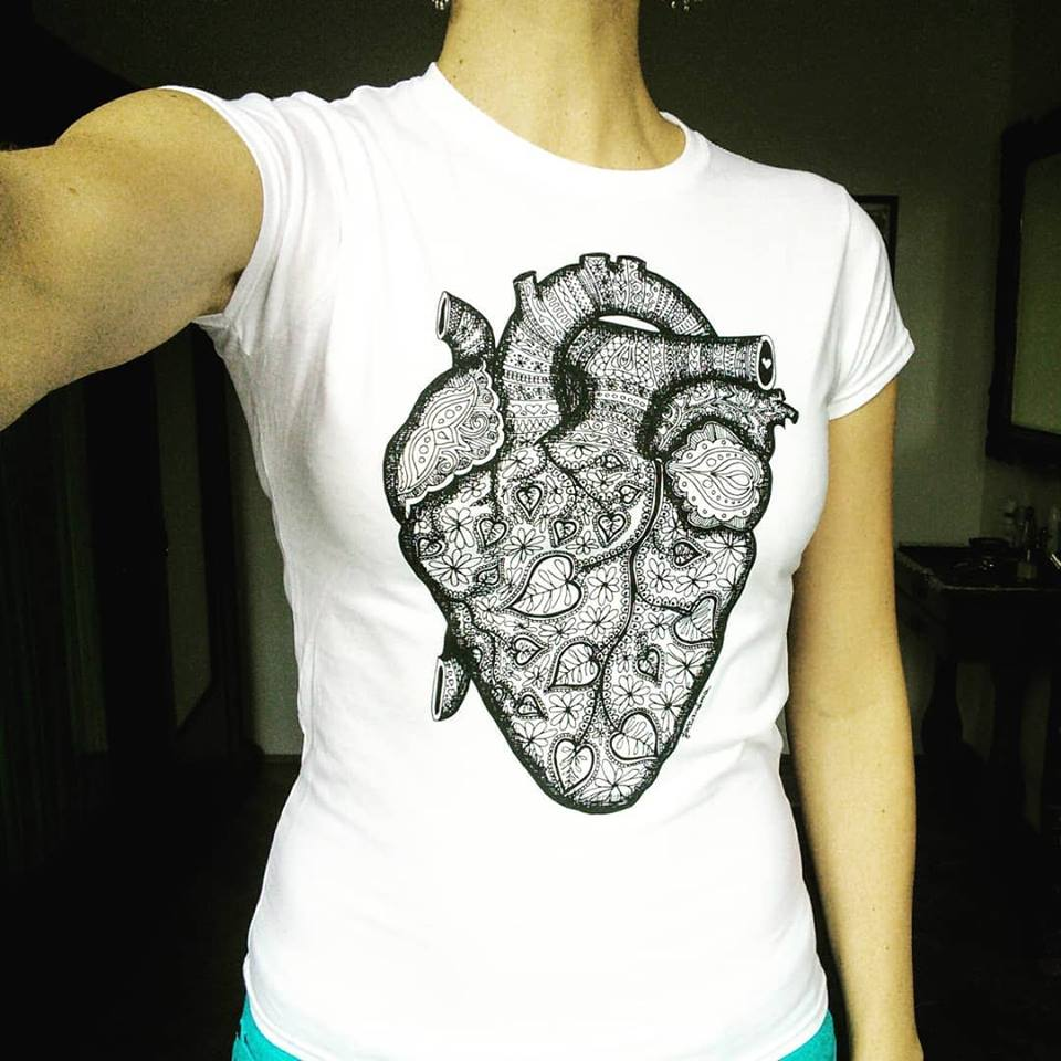 Image of Heart with Love - T-shirt
