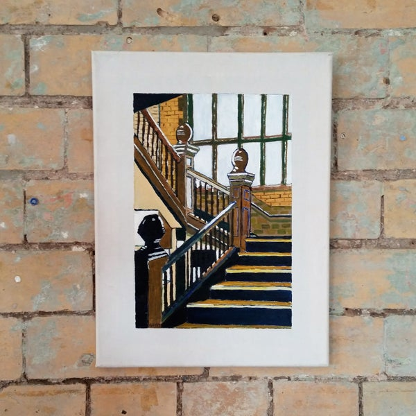 Image of Florrie Stairs Canvas by Ged