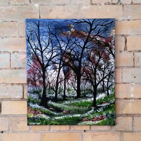 Image of Colour Trees Canvas by Steve Halpin