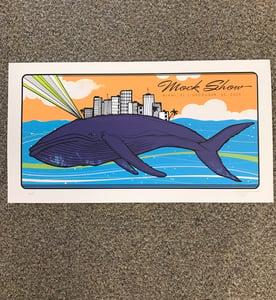 Image of Mock Show 2009, Phish NYE Art show 'Purple Humpback Whale'