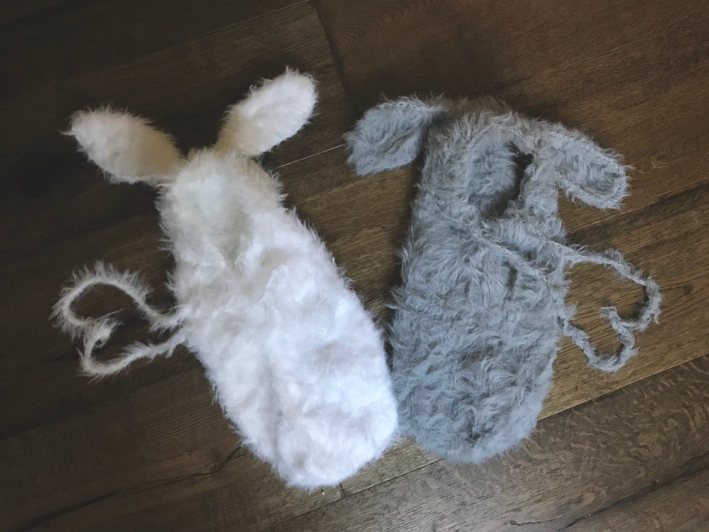 Image of FURRY BUNNY SWADDLE POUCH