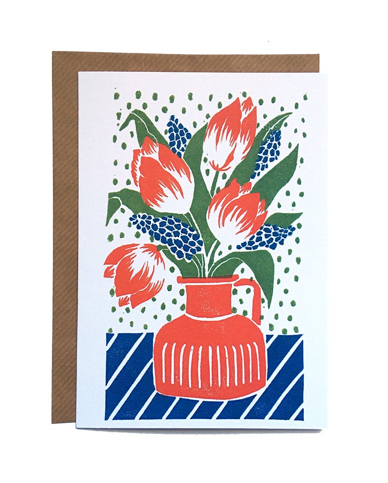 Image of Tulips - Greetings Card