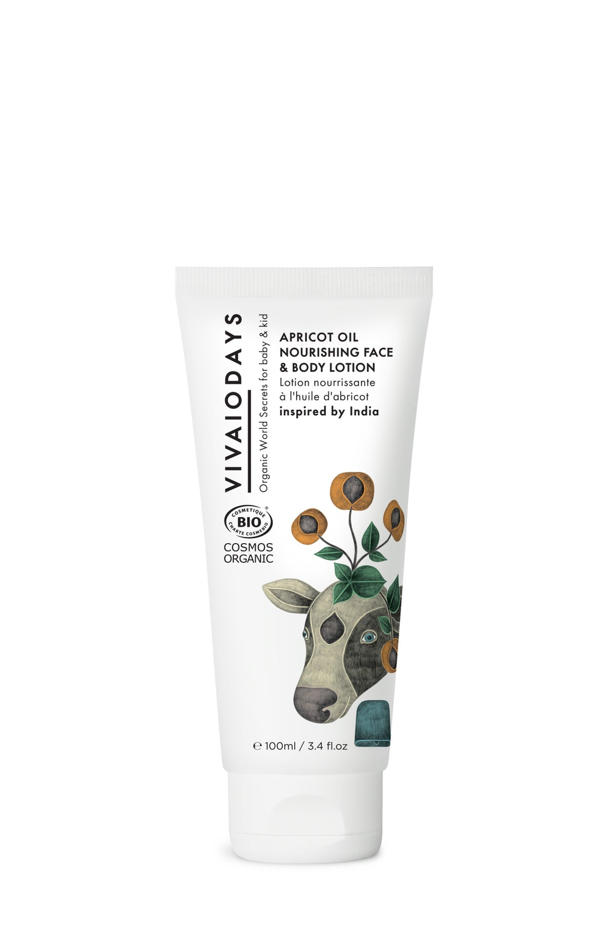 Image of VIVAIODAYS APRICOT OIL NOURISHING FACE & BODY LOTION INSPIRED BY INDIA