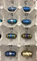 Anodized Titanium Slot Jumbo Bead