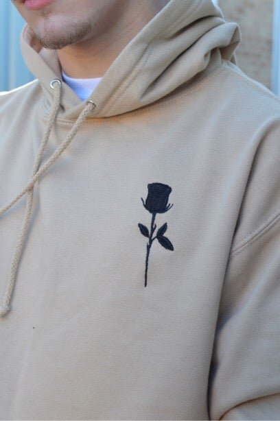 Image of Desert Rose Embroidered Hoodie