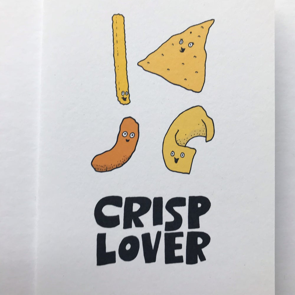 Image of CRISP LOVER CARD BY FINGSMCR
