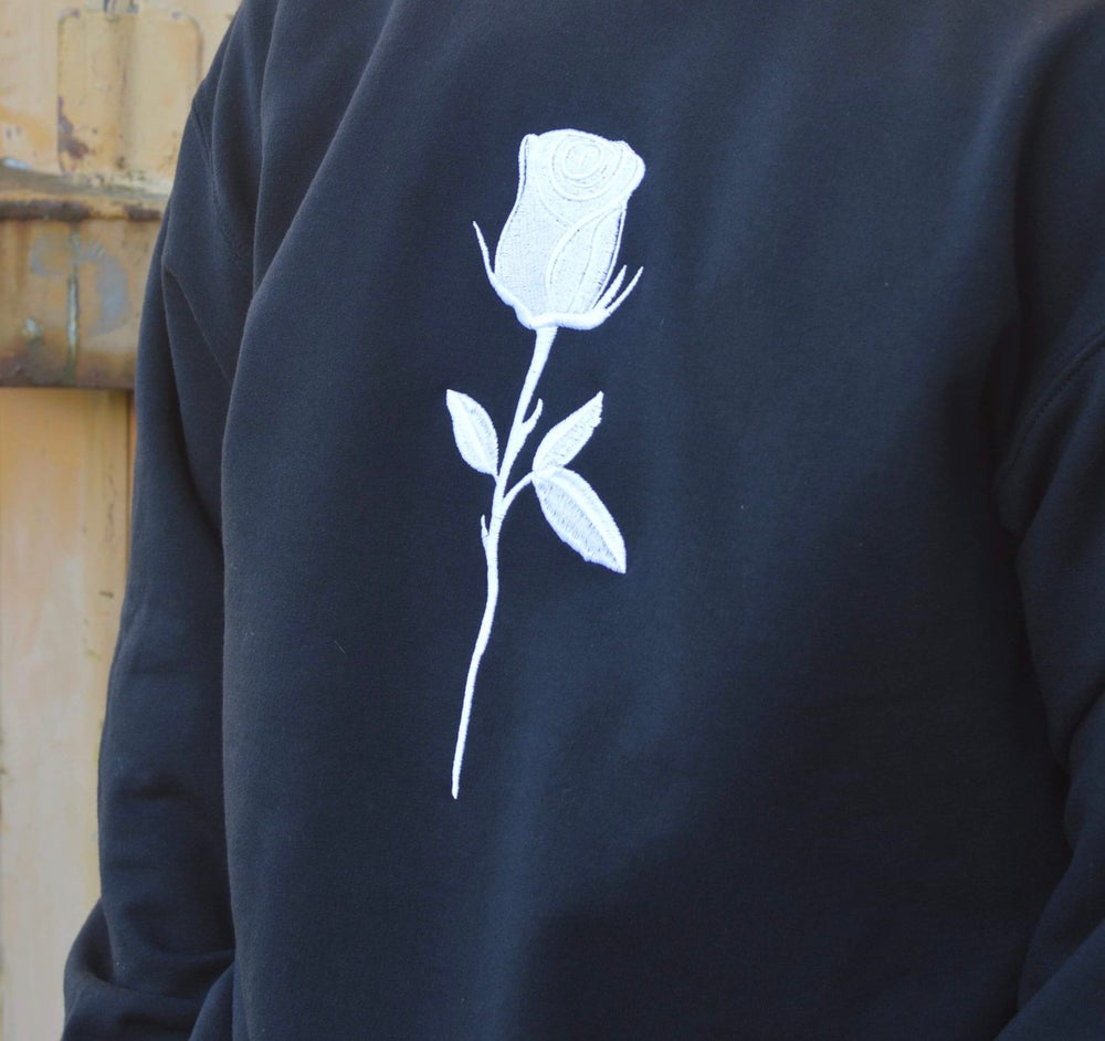 Image of Roses Aren't Red Embroidered Pullover