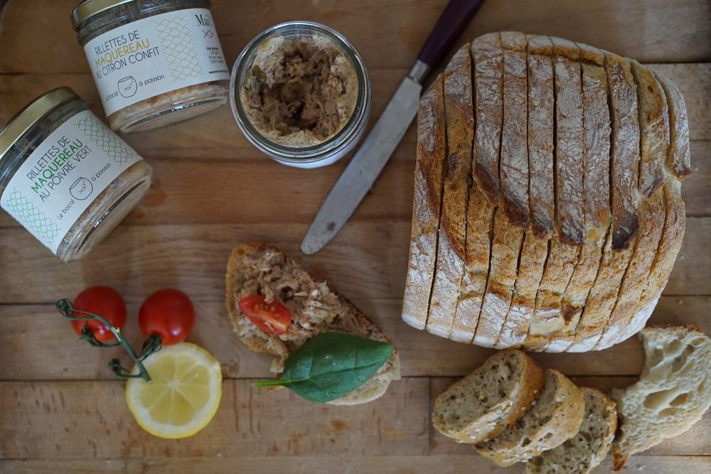 Image of Le bocal à poisson : lot de 3 bocaux de rillettes de maquereau